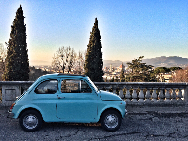 Allure of Tuscany Vintage Fiat 500 car Tour