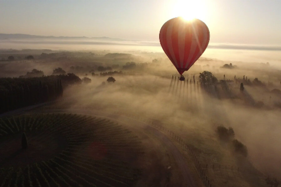 Hot Air Balloon Travel in Tuscany