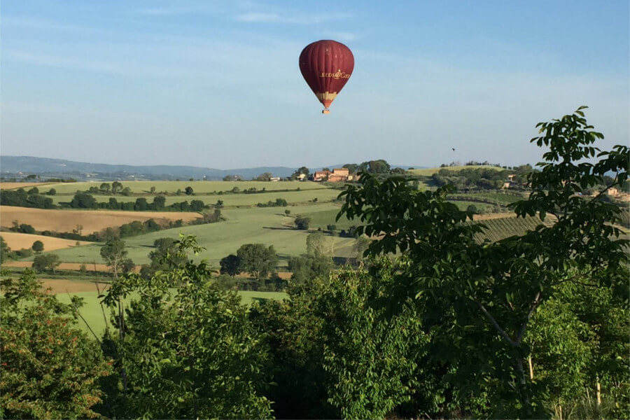 hot air balloon allure of tuscany