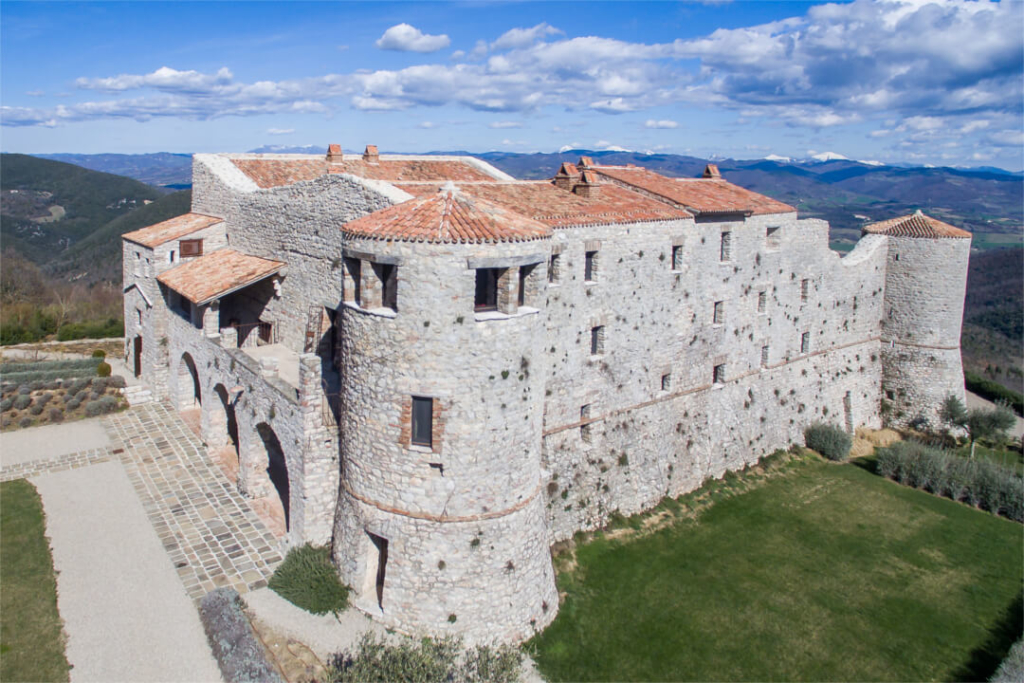 Aerial-View-Castle-Procopio-Umbria-Allure-Of-Tuscany