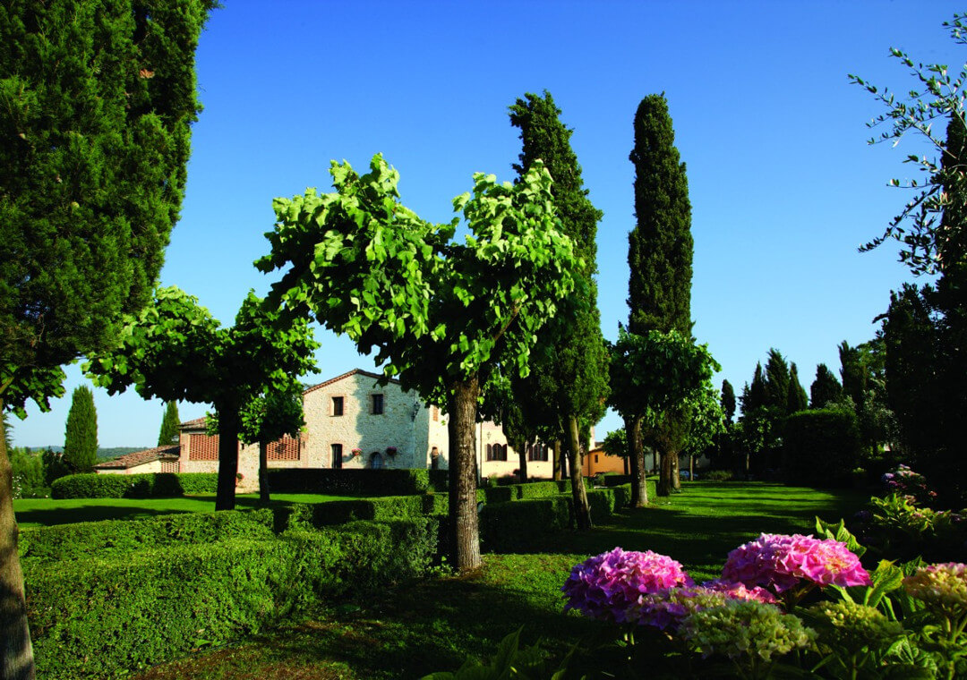 Front Garden From Gate Villa In Chianti Allure Of Tuscany