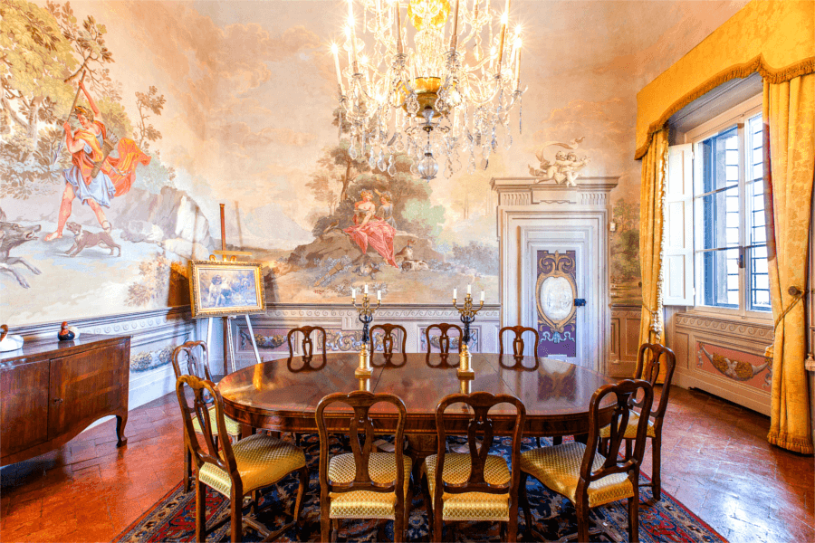 Luxury Villa Florence Dining Room - Allure Of Tuscany