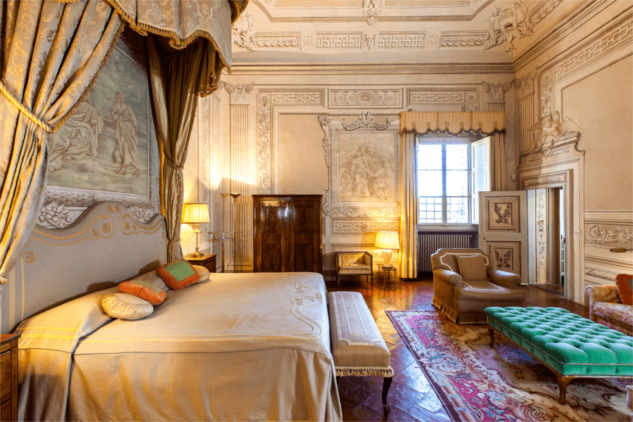 Luxury Villa Florence Master Bedroom - Allure Of Tuscany