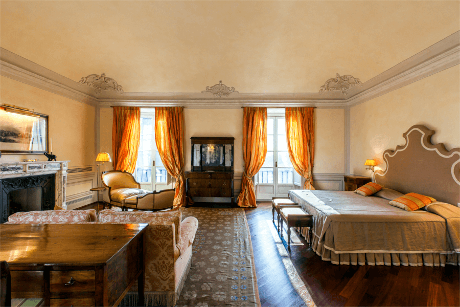 Luxury Villa Florence Orange Bedroom - Allure Of Tuscany